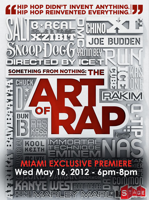 Art of Rap Movie Premiere Flyer