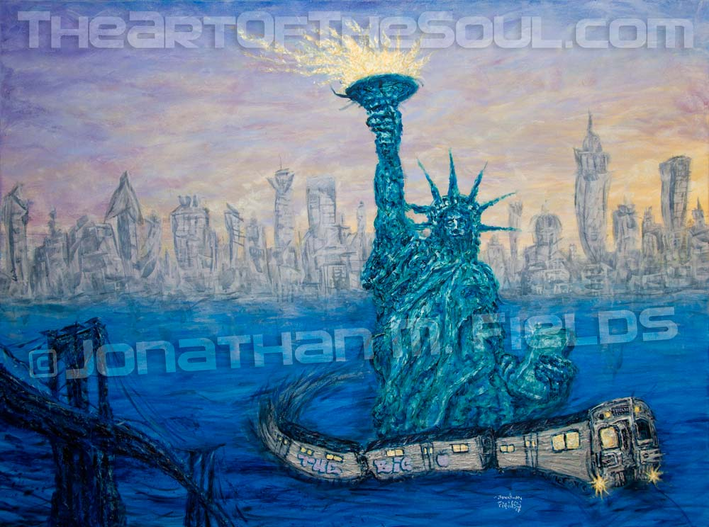 Dj Trails New York City Painting