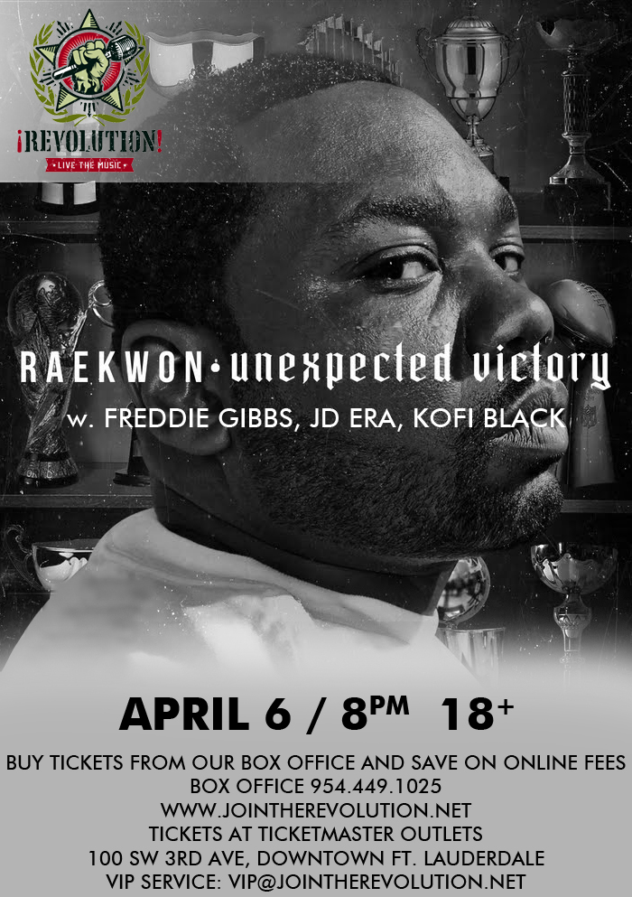 Raekwon live at Revolution April 6, 2012