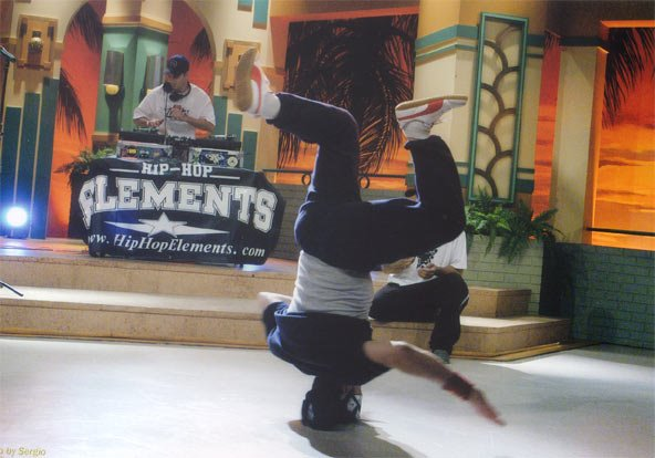Speedy Legs Headspin & DJ Trails on TV in 2002