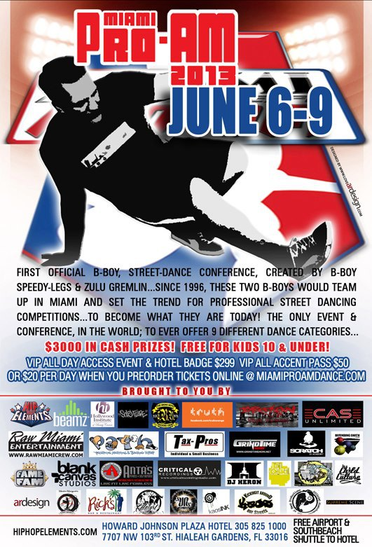 Bboy Miami ProAm 2013 Flyer